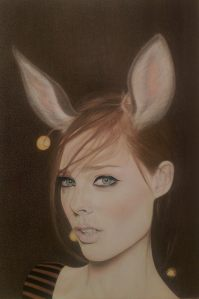 """In Their Capacity for Pleasure or Woe, A Woman is a Hen is a Cow is a Doe."" Colored Pencils on paper © L.E. Amatulli, 2014"