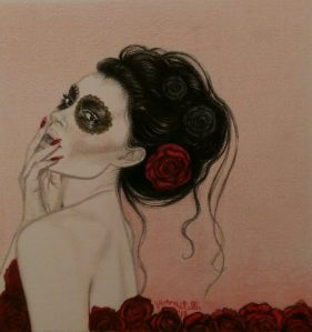 """Muertos 2"" Colored Pencils on paper ©L.E. Amatulli 2014"